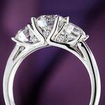Signature Forevermark 3-Stone Diamond Ring 18K