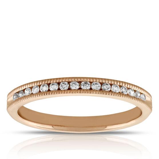 Rose Gold Diamond Band 1/7 ctw 14K