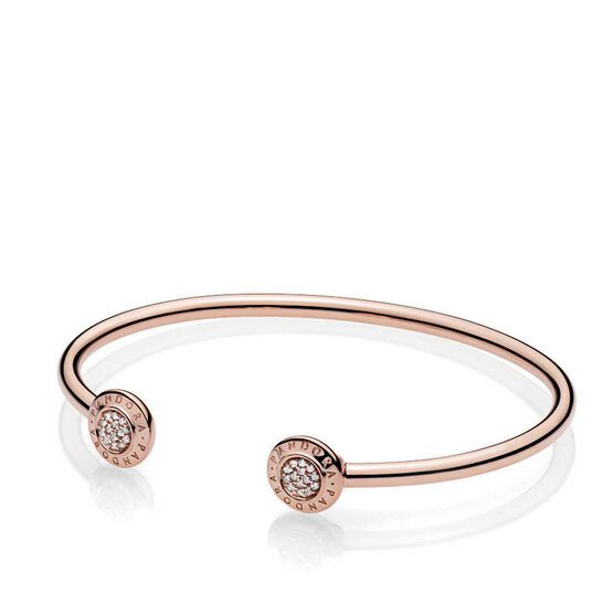 Pandora Rose™ Pandora Signature Open Bangle CZ Bracelet