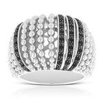 Lisa Bridge Black Sapphire Anemone Ring