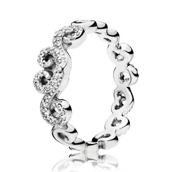 PANDORA Heart Swirls CZ Ring