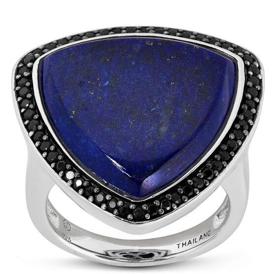 Lisa Bridge Lapis Lazuli & Black Sapphire Ring