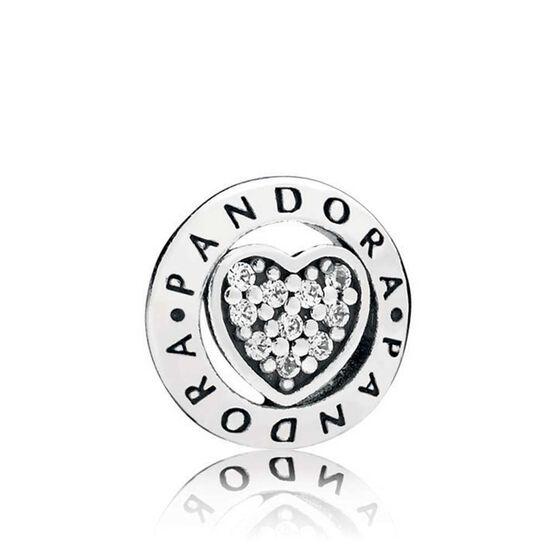 Pandora Signature CZ Heart Petite Locket Charm