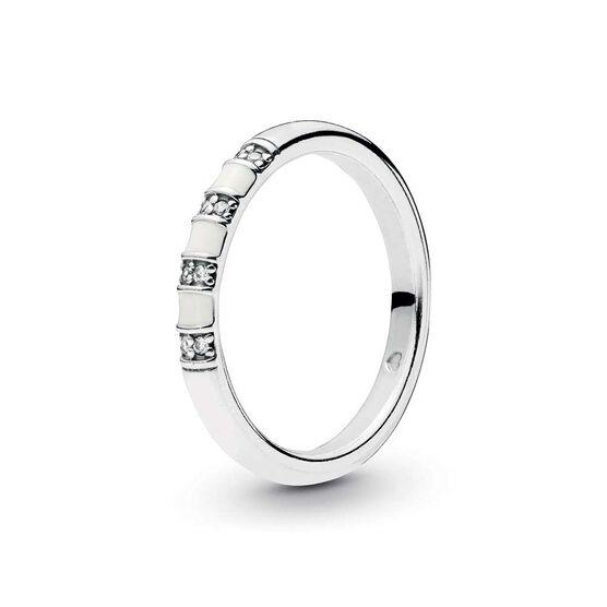 Pandora Exotic Stones & Stripes Enamel & CZ Ring