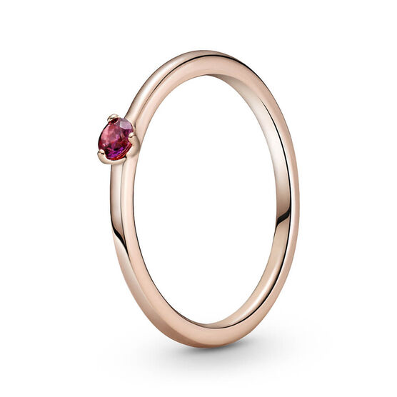 Pandora Red Solitaire CZ Ring
