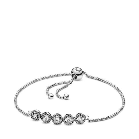 Pandora Round Sparkle CZ Slider Bracelet