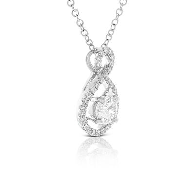 Ikuma Canadian Diamond Wide Infinity Pendant 14K