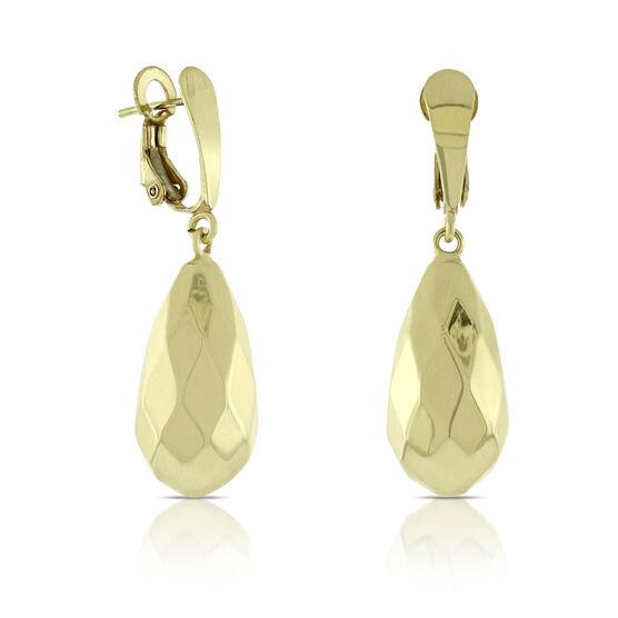 Toscano Pear Drop Earrings 14K