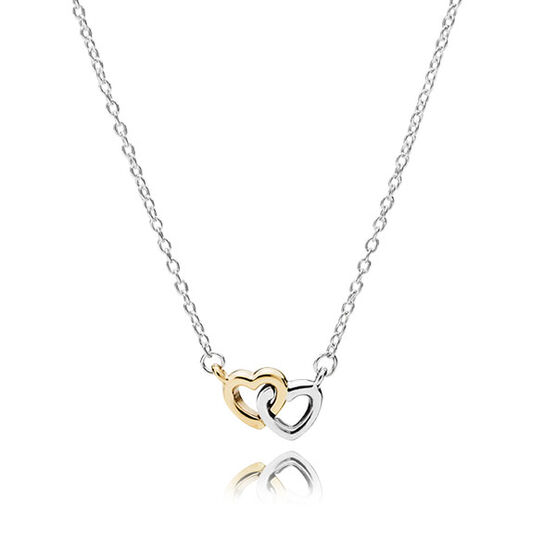 PANDORA United in Love Necklace, Silver & 14K