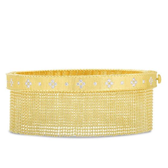 Roberto Coin Princess Beaded Tassel Diamond Bangle 18K
