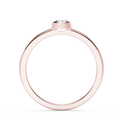 The Forevermark Tribute™ Collection Rose Gold Bezel Set Diamond Ring 18K