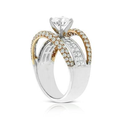 Signature Forevermark Rose Gold Diamond Bands Ring 18K