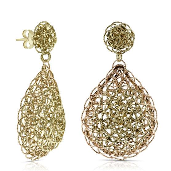 Toscano Woven Earrings 14K