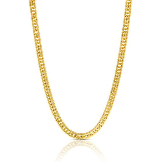 """Tight Link Curb Chain Necklace 14K, 24"""""""