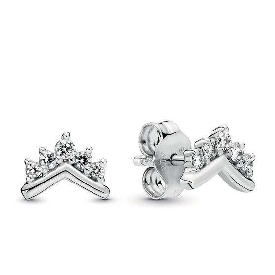 Pandora Tiara Wishbone CZ Stud Earrings