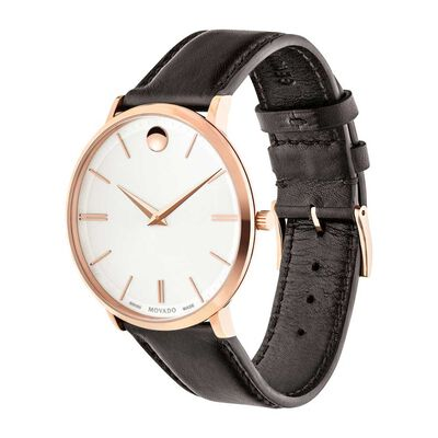 Movado Ultra Slim Rose PVD Watch