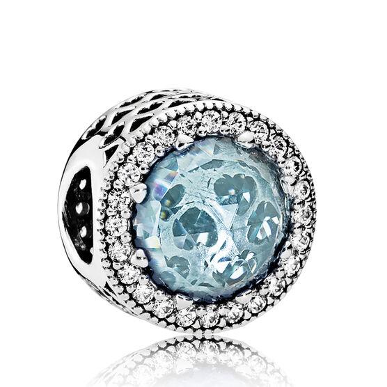 Pandora Radiant Hearts Blue Crystals & CZ Charm