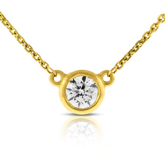 Bezel Set Diamond Pendant 14K, 1/4 ct.