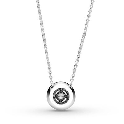 Pandora Sparkling Double Halo CZ Collier Necklace