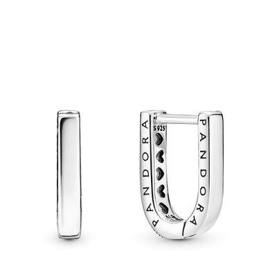 Pandora U-shaped CZ Hoop Earrings