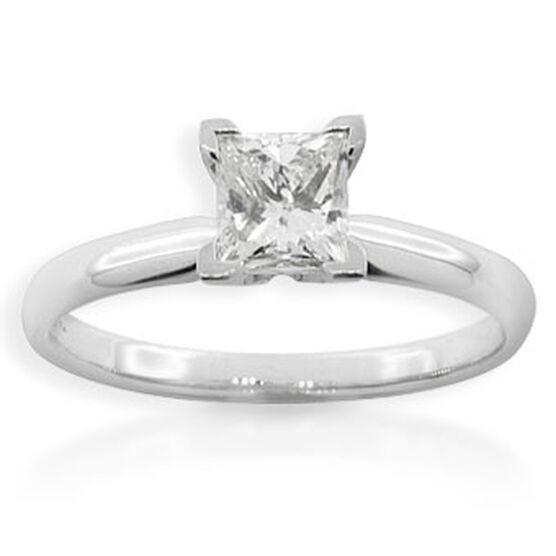 Princess Cut Diamond Solitaire Ring, 14K, 1ct.