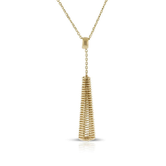 Toscano Coiled Drop Necklace 14K
