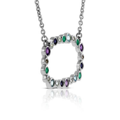 Lisa Bridge Scattered Gemstone Necklace