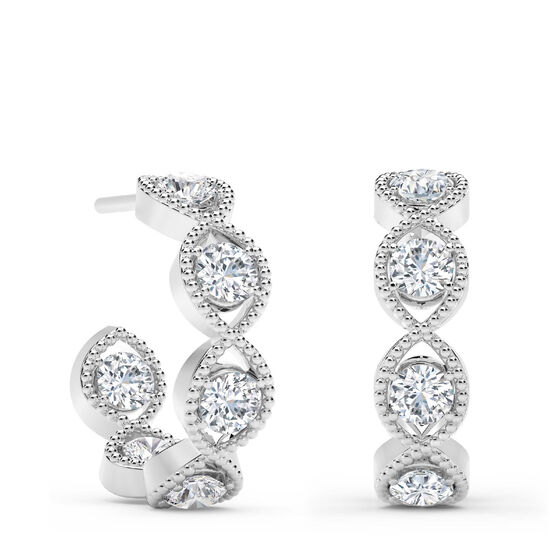 The Forevermark Tribute™ Collection Diamond Hoop Earrings 18K