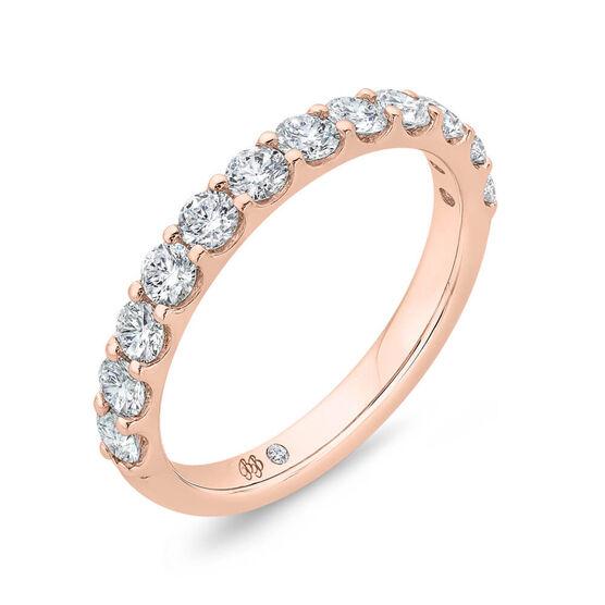 Bella Ponte Rose Gold Diamond Band 14K, 3/4 ctw.