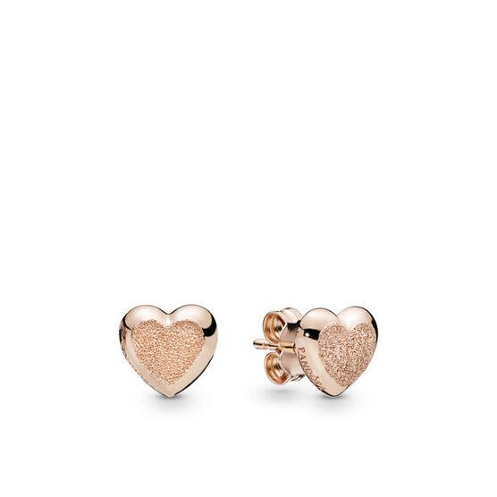 PANDORA Rose™ Matte Brilliance Hearts Earrings