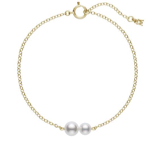 Mikimoto Double Akoya Cultured Pearl Station Bracelet 18K