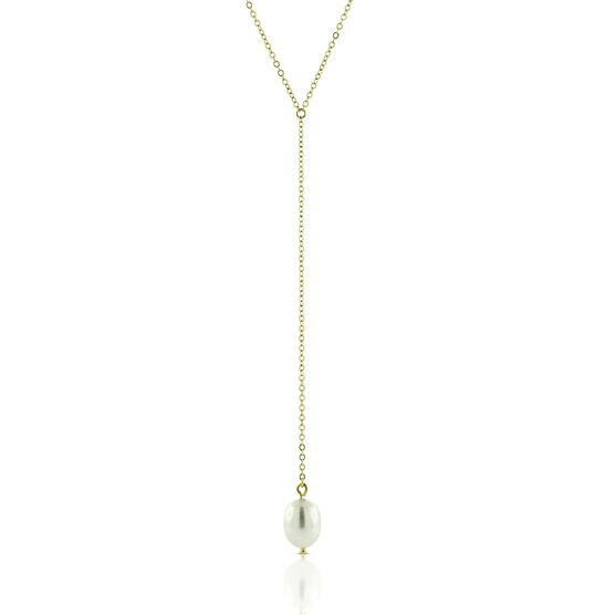 "Cultured Freshwater Pearl ""Y"" Necklace 14K"