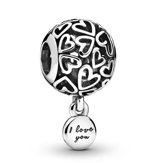 Pandora Openwork Love Hearts Charm