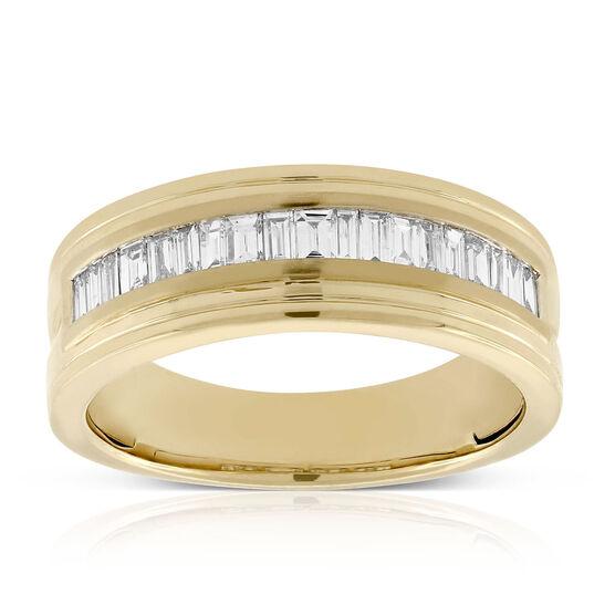 Men's Baguette Cut Diamond Band 14K