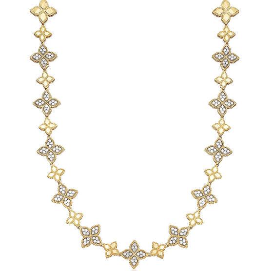 Roberto Coin Diamond Princess Flower Necklace 18K