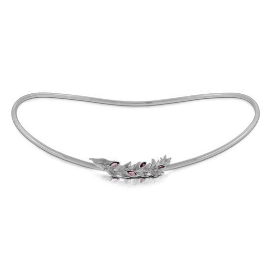 Lisa Bridge Rhodolite Garnet Collar Necklace