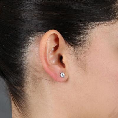 Forevermark Tribute™ Collection Diamond Halo Earrings 18K