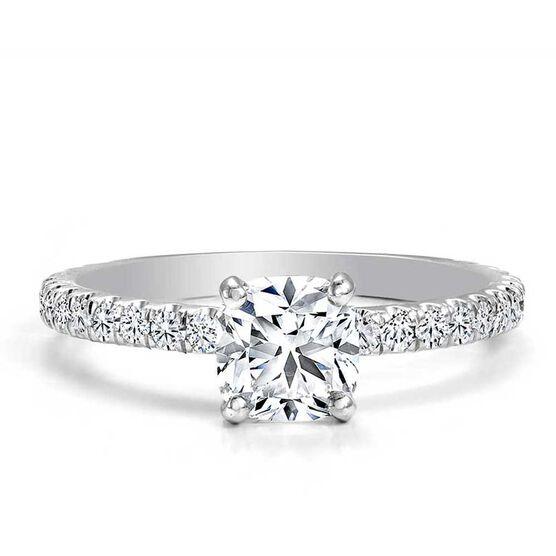 Forevermark Black Label 3/4 ct. Cushion Cut Diamond Engagement Ring 18K