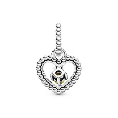 Pandora Purely Pandora Honey Crystal Beaded Heart Dangle Charm