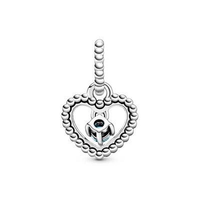 Pandora Aqua Blue Crystal Beaded Heart Dangle Charm