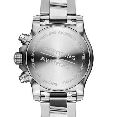 Breitling Avenger Chronograph 43 Black Steel Watch, 43mm