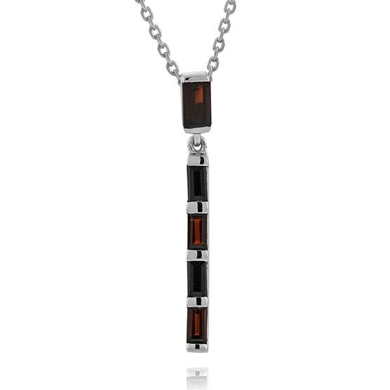 Lisa Bridge Garnet & Black Onyx Stick Pendant