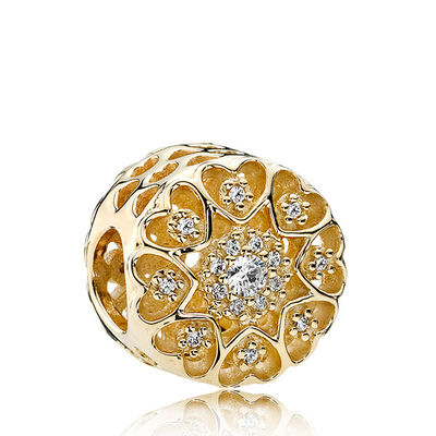 PANDORA Hearts of Gold CZ Charm 14K