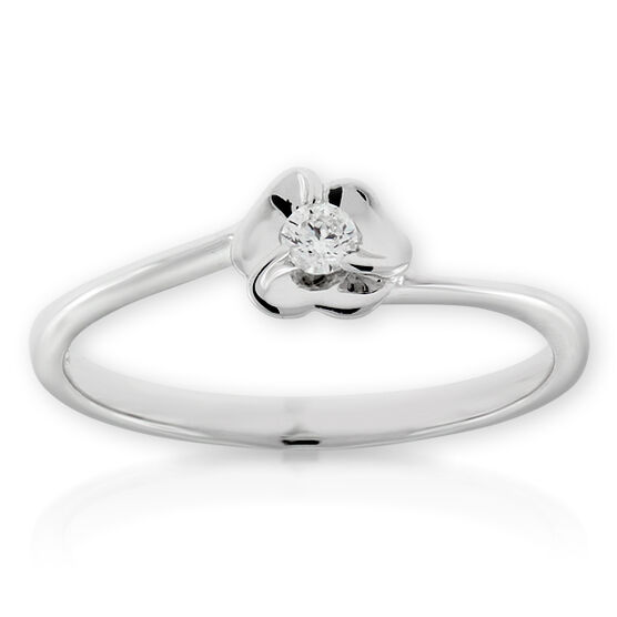 Diamond Flower Ring 14K