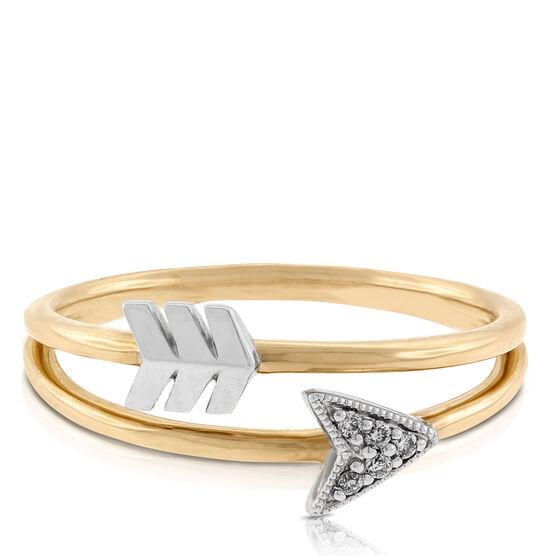 Arrow Diamond Ring 14K