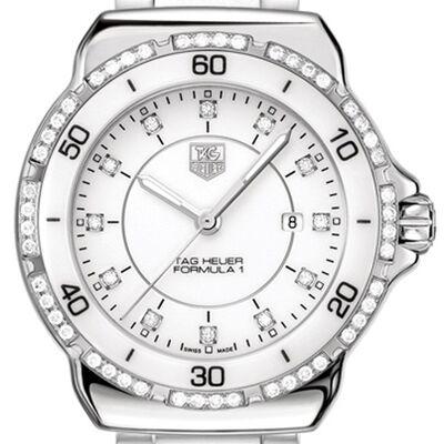 TAG Heuer Formula 1 Quartz White Ceramic & Diamond  Watch, 32mm
