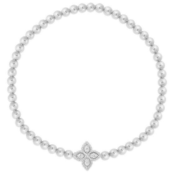 Roberto Coin Princess Flower Small Diamond Bracelet 18K