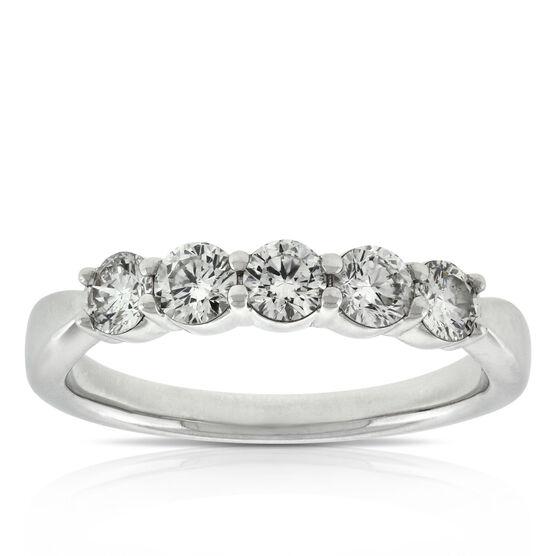 Diamond 5-Stone Band 14K, 3/4 ctw.