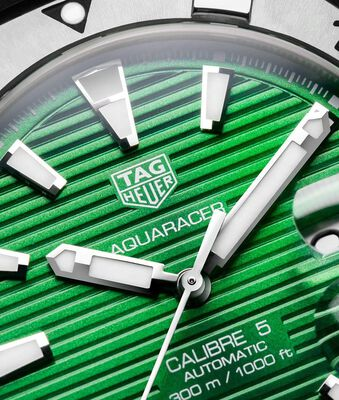 TAG Heuer Aquaracer Green Dial Calibre 5 Automatic Watch
