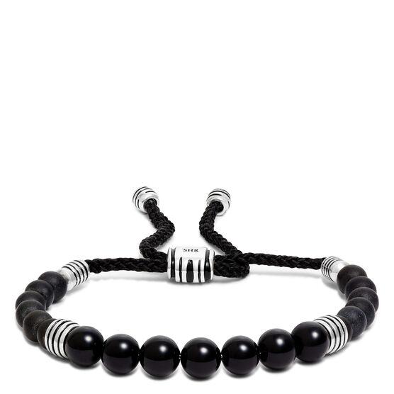 Onyx Bolo Bracelet in Sterling Silver